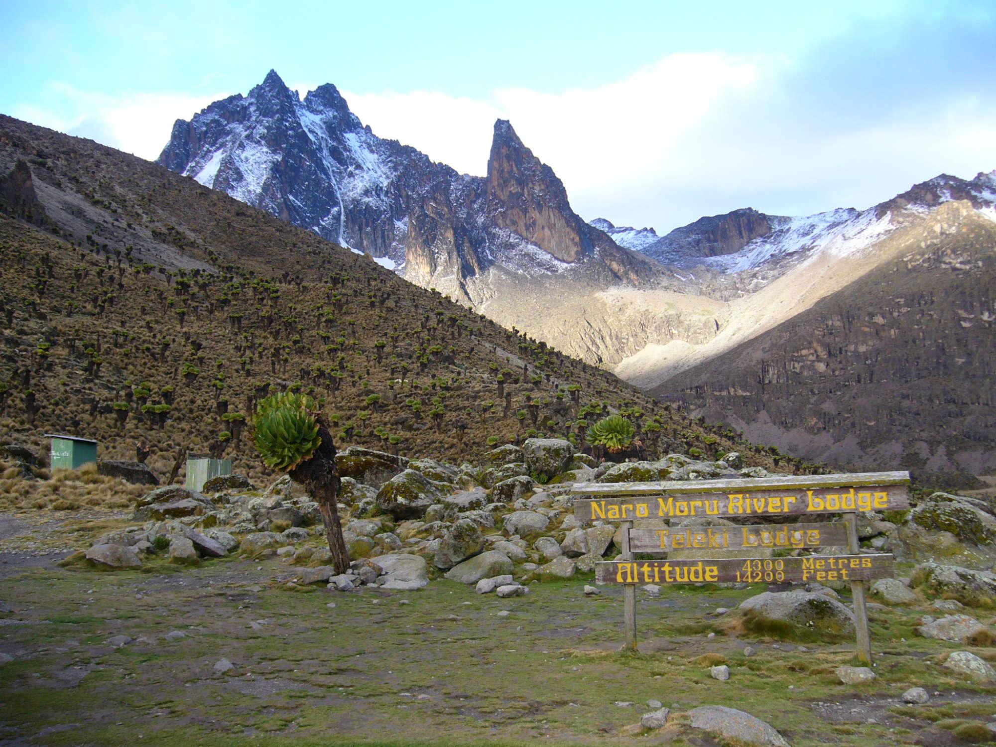 ケニア山とキリマンジャロ登頂14日間