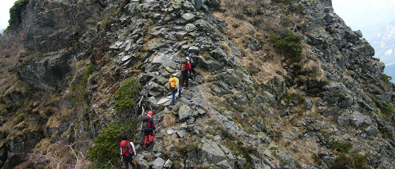 岩稜登攀ルート